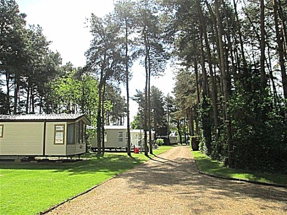 photo of view in six acres caravan park