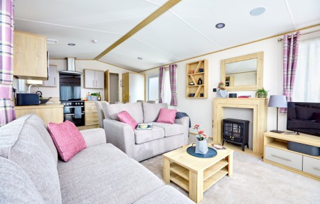 Lounge photo of a 2019 ABI Beverley 39 x 12 2 bedroom holiday caravan.