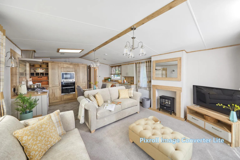Lounge photo of a 2020 ABI Langdale 40 x 13 2 bedroom holiday home.
